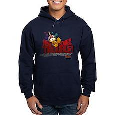 Here Comes Trouble Hoodie (dark)