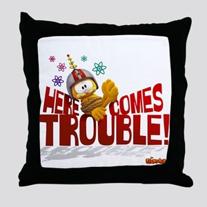 "Garfield ""Here Comes Trouble"" Throw Pillow"