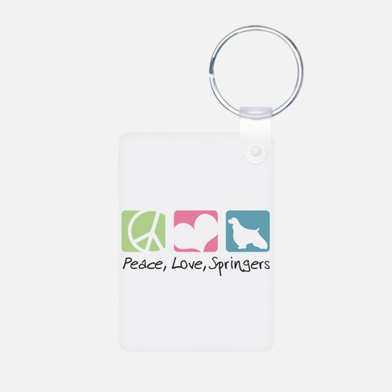 Peace, Love, Springers Keychains