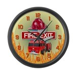 Large Firefighters Wall Clock