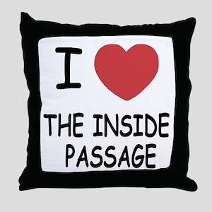 the inside passage Throw Pillow