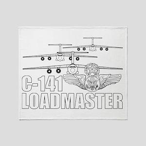 C-141 Loadmaster Throw Blanket