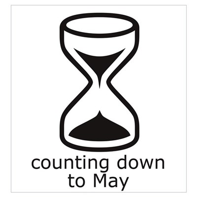 counting down to May Framed Print
