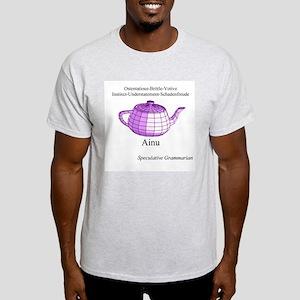 SpecGram Ainu Ash Grey T-Shirt