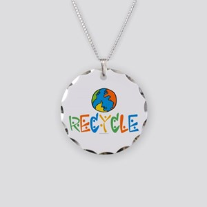Eco-Friendly Recycling Necklace Circle Charm