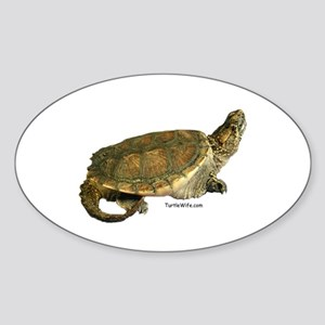 Snazzy Snapper Oval Sticker