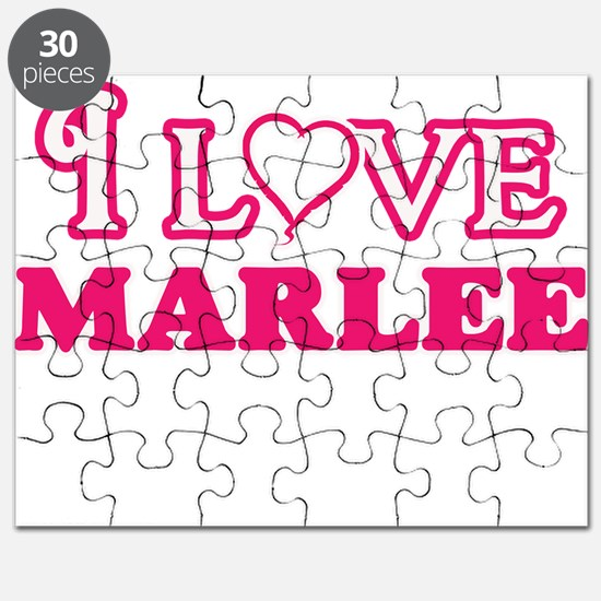 I Love Marlee Puzzle