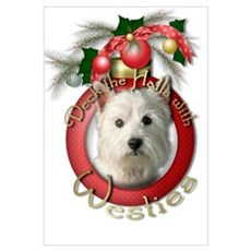 Christmas - Deck the Halls - Westies Framed Print
