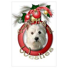 Christmas - Deck the Halls - Westies Poster