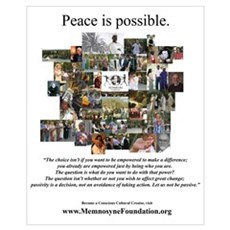 """""""Peace Is Possible"""" Memnosyne Poster"""