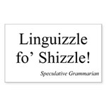 SpecGram Linguizzle Rectangle Sticker