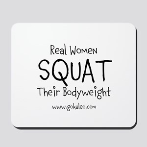 Real Women Squat Mousepad