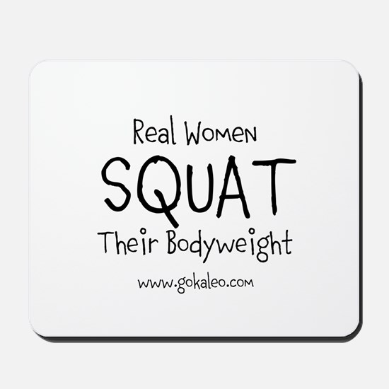 Real Women Squat Mousepad