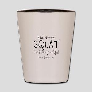 Real Women Squat Shot Glass