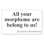SpecGram Morpheme Rectangle Sticker