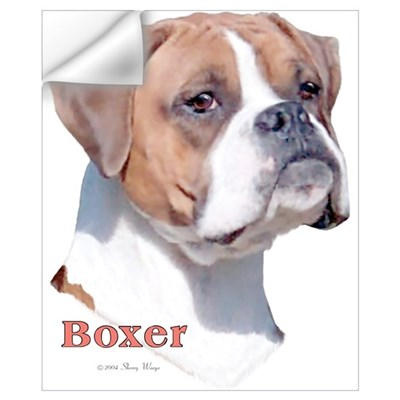 Boxer w/Natural Ears (2) Wall Decal