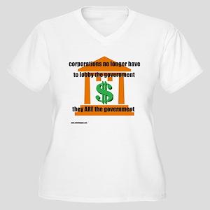 Corporate Lobbying Women's Plus Size V-Neck T-Shir