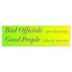 Bad Officials/Good People Sticker (Bumper 10 pk)