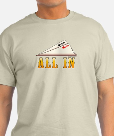 All In Texas hold 'em T-Shirt