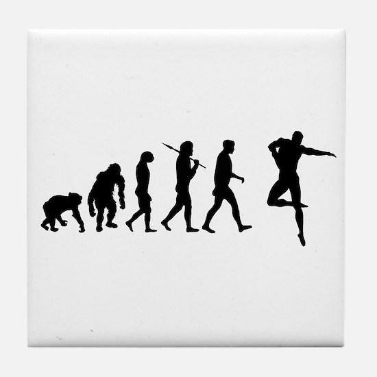Male Dancer Tile Coaster