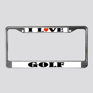 Golf Gift License Plate Frame (I Love)