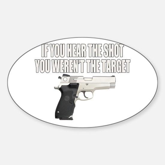 Gun Control Sticker (Oval)
