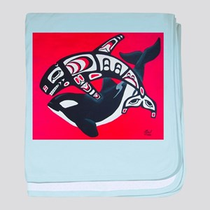 Spirit of the Orca baby blanket