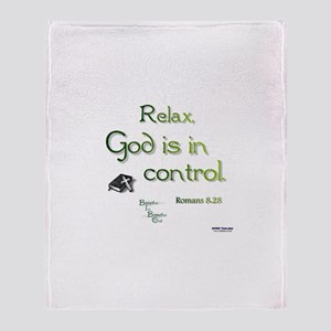 God is in Control Throw Blanket