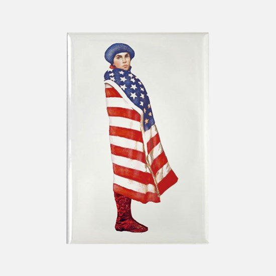 Young Patriot Rectangle Magnet (10 pack)