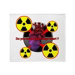 Chernobyl Heart Throw Blanket