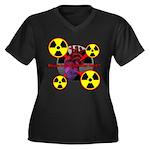 Chernobyl Heart Women's Plus Size V-Neck Dark T-Sh