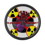Chernobyl Heart Large Wall Clock