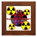 Chernobyl Heart Framed Tile
