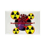 Chernobyl Heart Rectangle Magnet