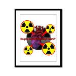 Chernobyl Heart Framed Panel Print