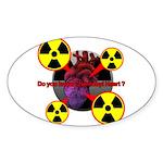 Chernobyl Heart Sticker (Oval)