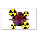 Chernobyl Heart Sticker (Rectangle)