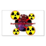 Chernobyl Heart Sticker (Rectangle 50 pk)