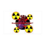 Chernobyl Heart 38.5 x 24.5 Wall Peel