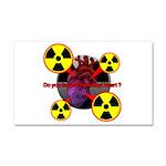 Chernobyl Heart Car Magnet 20 x 12