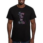 Hu$tlin' Men's Fitted T-Shirt (dark)