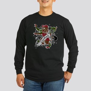 Crawford Tartan Lion Long Sleeve Dark T-Shirt
