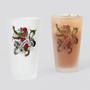 Crawford Tartan Lion Drinking Glass