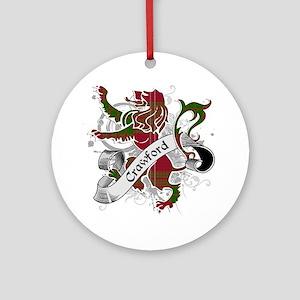 Crawford Tartan Lion Ornament (Round)