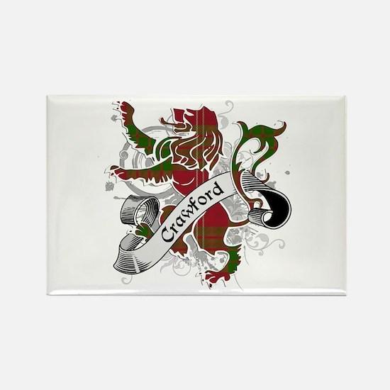 Crawford Tartan Lion Rectangle Magnet