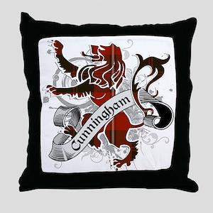 Cunningham Tartan Lion Throw Pillow