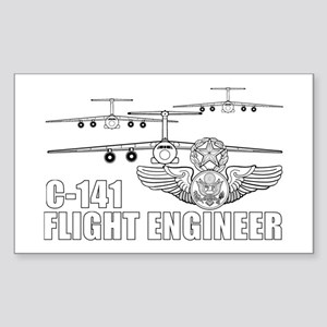 C-141 Flight Engineer Sticker (Rectangle)
