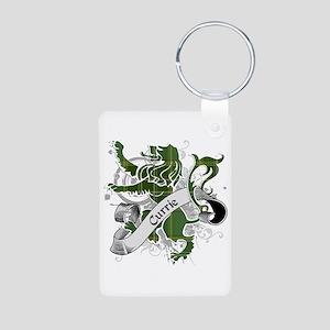 Currie Tartan Lion Aluminum Photo Keychain