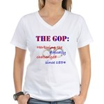 Ethically Challenged Women's V-Neck T-Shirt