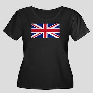 United Kingdom Women's Plus Size Scoop Neck Dark T
